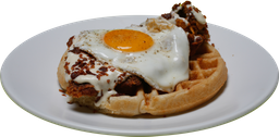 Bacon, Chicken y Waffles