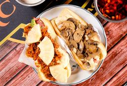 Hotdog Quesillo y champiñon