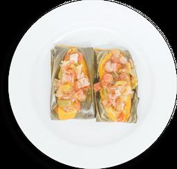 Tamalitos en Salsa de Axiote