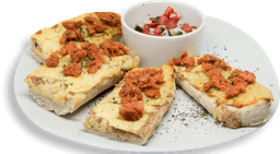 Molletes con Chorizo