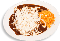Enchiladas de Mole Rojo