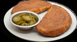 Empanada con Salsa Bolognesa