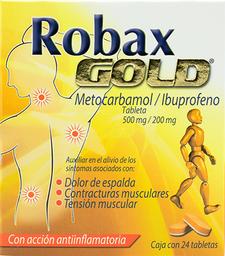 Robax Gold 24 Tabletas (500 mg/200 mg)