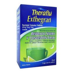 Te Antigripal Theraflu Resfriado severo 6 sobres