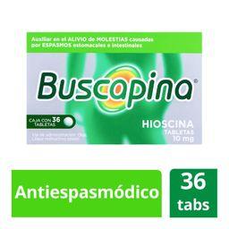 Buscapina 10mg 36 tabletas Antiespasmódico