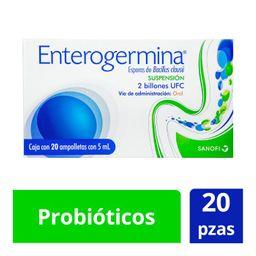 Enterogermina 2 Billones 20 ampolletas 5 ML probioticos