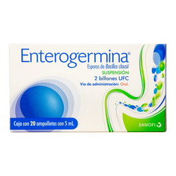 Enterogermina 2 Billones 20 ampolletas 5 ML probioticos