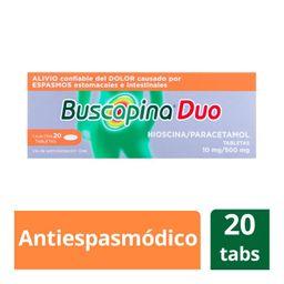 Buscapina Duo 20 Tabletas (10 mg/500 mg)