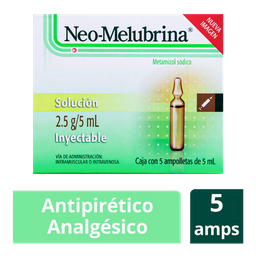 Neo Melubrina 2.5G/5ML Solución Inyectable  5 Ampolletas