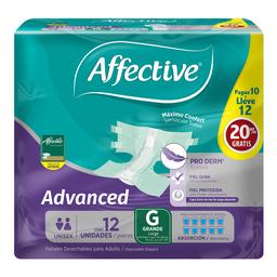Pañal Para Adulto Affective Advanced Talla Grande Unisex 10 U