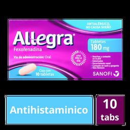 Allegra  Antihistamínico 10 Tab de 180 mg