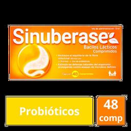 Sinuberase Probioticos 48 Comprimidos