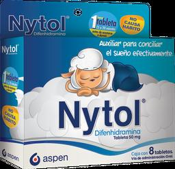 Nytol 8 Tabletas (50 mg)