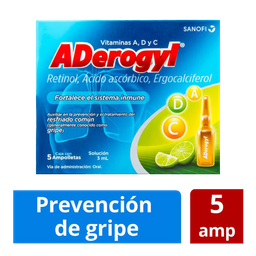 Aderogyl 15 5 Ampolletas de 3 mL