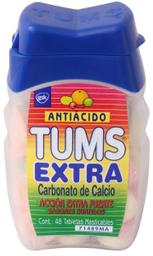 Pastillas Masticables TUMS Surtido Extra Antiacido 48 unidades