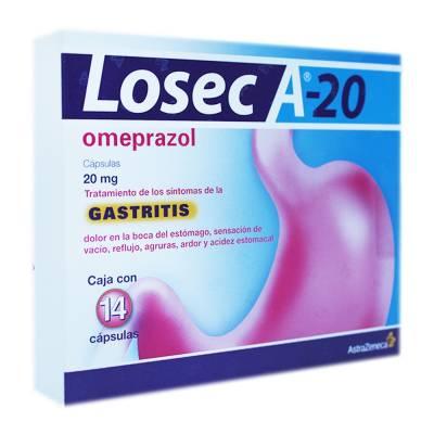 Omeprazol Losec A 14 Cápsulas (20 mg)