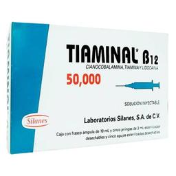 Tiaminal B12 50000 Solución Inyectable 10 mL