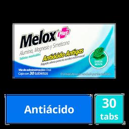 Melox Plus Antiácido Masticable Sabor Menta 30 Tab