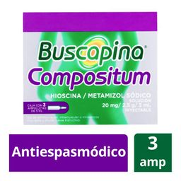 Buscapina Compositum 3 amp (20 mg)