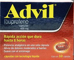 Advil Max 400 mg Cápsulas 10 U