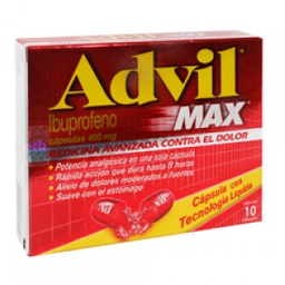 Advil Max 400 mg Cápsulas 10 U