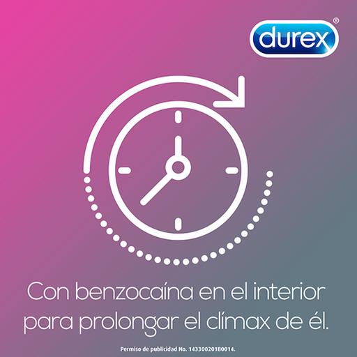 Durex Sinax Preservativos Retardante 3 Piezas Caja