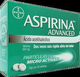 Aspirina Advanced 20 Tabletas (500 mg)