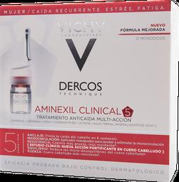 Ampolletas Anti-Caída Dercos Aminexil Clinical 5 Vichy Mujer