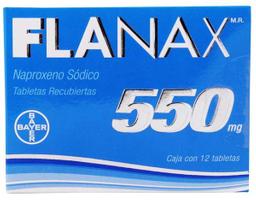 Flanax 550 12 Tabletas (550 mg)