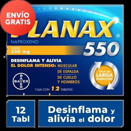 Flanax Bayer 550Mg 12 Tableta(S) Caja Naproxeno 550 Mg