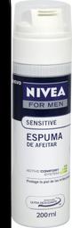Espuma Para Afeitar Nivea For Men Sensitive 200 mL