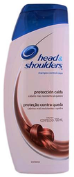 Shampoo Head & Shoulders Protección Caída Con Cafeína