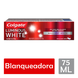 Pasta de Dental Colgate Luminous White BrillIant White 75ML