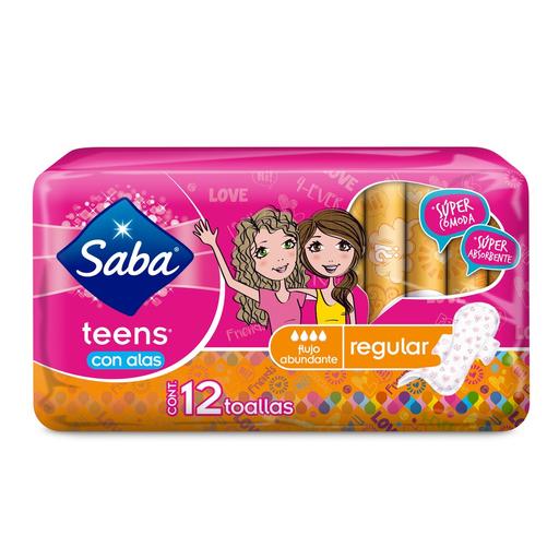 Saba Toallas FemeninasTeens Regular Con Alas