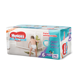 Huggies Pañal All Around Unisex Etapa 6 Autoajustable