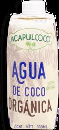 Agua de Coco Orgánica Acapulcoco 330 mL
