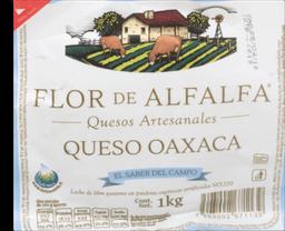 Queso Oaxaca Flor de Alfalfa Orgánico 1 Kg