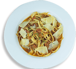 Fettuccini a la Bolognesa