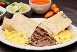 Burrito extra queso y carne