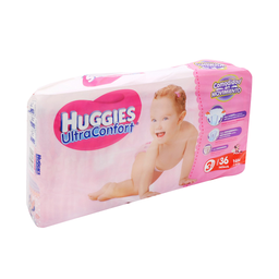 Pañal Huggies Ultraconfort Para Niña