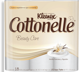 Papel higiénico Kleenex Cottonelle Beauty Care 18 U