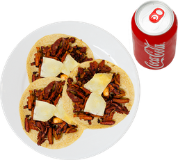 3 Tacos de Pastor + Refresco