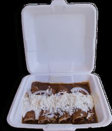 Enchiladas de Mole + Bebida