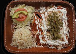 Enchiladas en Adobo