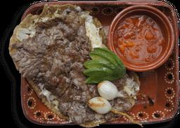 Huarache con Carne