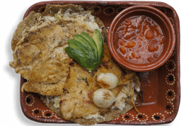 Huarache con Pollo