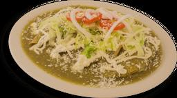 Enchiladas Verdes de Queso