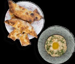 Hummus y Pan Arabe