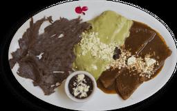 Cecina con Enchiladas