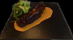 Costilla de Cerdo con BBQ de Mole y Tamarindo